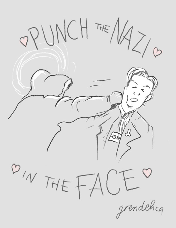 Punch the nazi in the face